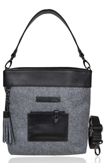 Sherpani Boheme Wool & Leather Convertible Crossbody Bag