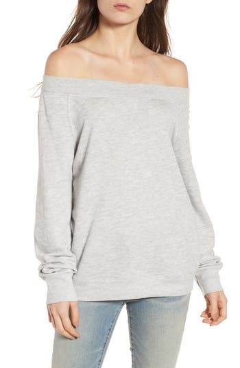 Treasure & Bond Off the Shoulder Sweatshirt