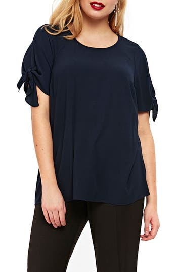 Tie Sleeve Top by Evans