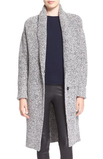 Theory Fastrada Marled Shawl Collar Cardigan Coat