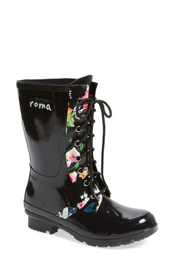 roma 'Epaga' Floral Rain Boot (Women)