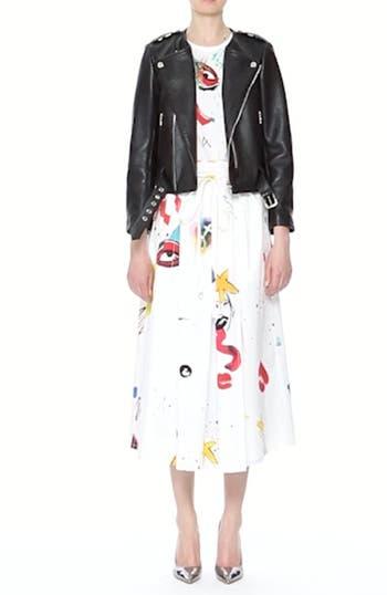 Collage Print Wrap Midi Skirt, video thumbnail