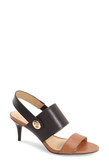 Womens Sandals COACH Marla Saddle/Black