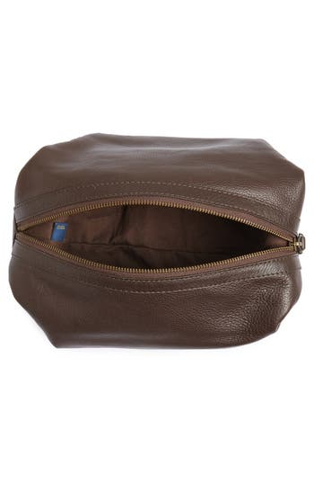 Leather Travel Kit,                             Alternate thumbnail 4, color,                             Brown