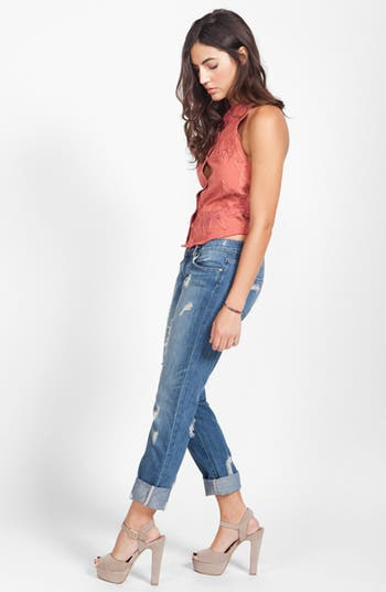 Denim 'Jimmy Jimmy' Distressed Skinny Jeans,                             Alternate thumbnail 4, color,