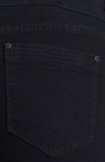 Alternate Image 3  - NYDJ Gabriella' Stretch Moto Skinny Jeans (Black)