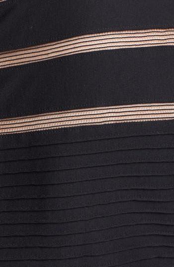 Alternate Image 3  - Tadashi Shoji Mesh Stripe Fit & Flare Dress (Plus Size)
