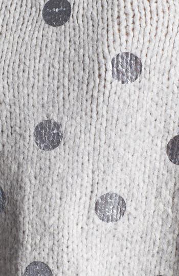 Alternate Image 4  - Elizabeth and James Foil Dot Sweater