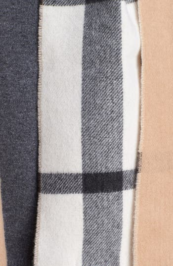 Alternate Image 2  - Burberry Tonal Check Cashmere Scarf
