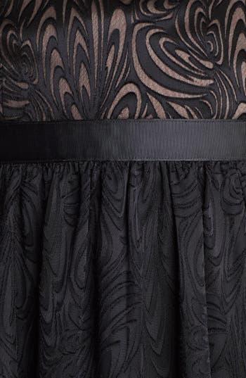 Alternate Image 3  - Aidan Mattox Strapless Fit & Flare Jacquard Dress
