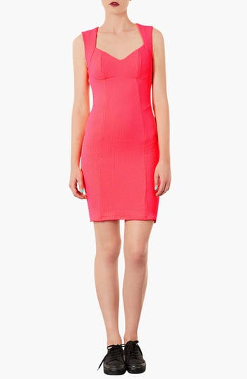 Main Image - Topshop Sweetheart Neckline Body-Con Dress (Petite)