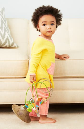 Main Image - Stem Baby Reversible Dress & Leggings (Baby Girls)
