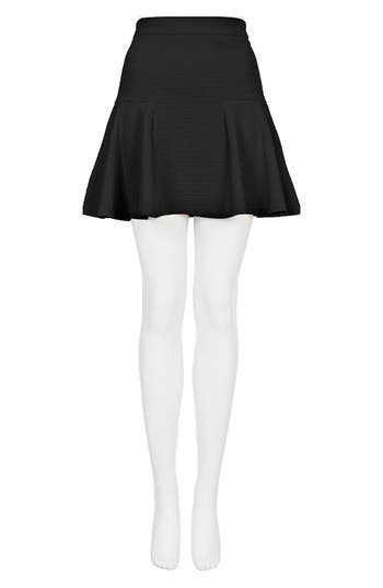 Alternate Image 4  - Topshop Textured Skater Skirt