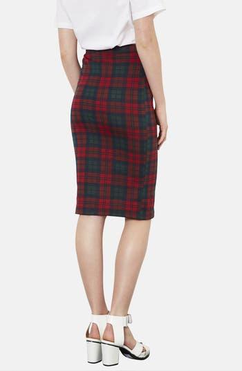 Alternate Image 2  - Topshop Check Print Tube Skirt