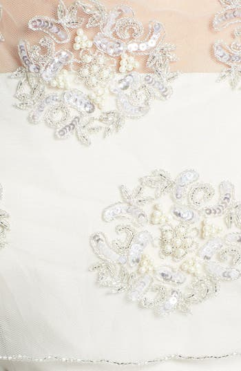 Alternate Image 2  - Wedding Belles New York Embroidered Capelet