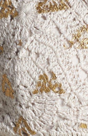 Alternate Image 3  - Billabong 'Cosmic Disco' Metallic Print Crochet Bralette (Juniors)