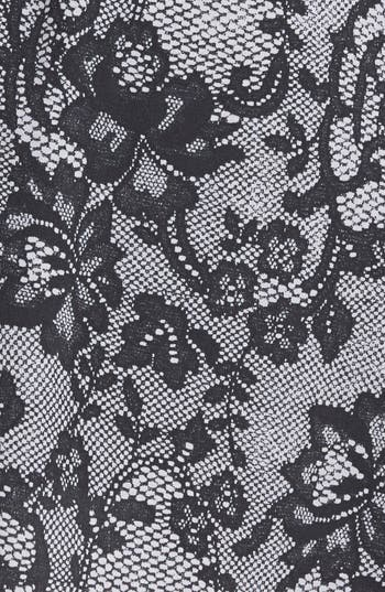 Alternate Image 3  - Lily White Floral Print Button Front Skirt (Juniors)
