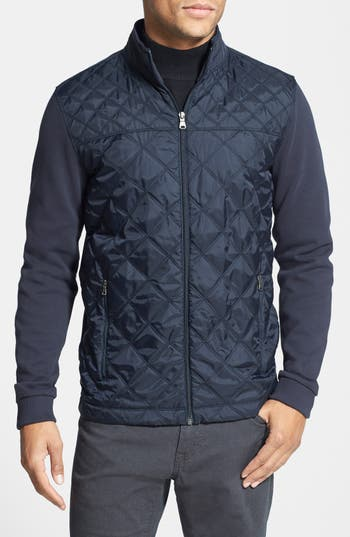 Boss Hugo Boss Pizzoli Knit Amp Quilted Jacket Nordstrom