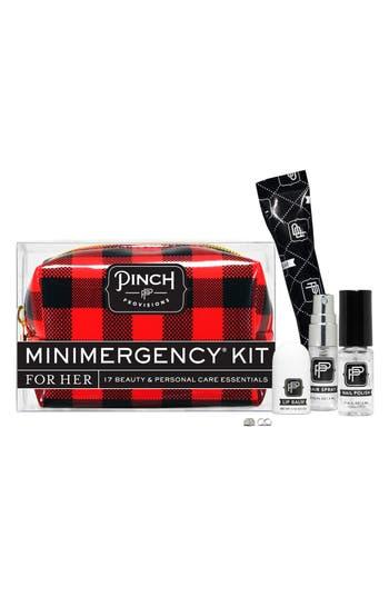 'Checkmate' Minimergency Kit,                             Alternate thumbnail 3, color,                             Red Plaid