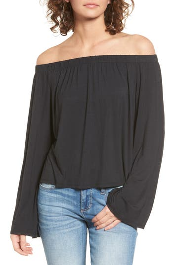 Love, Fire Knit Off the Shoulder Top