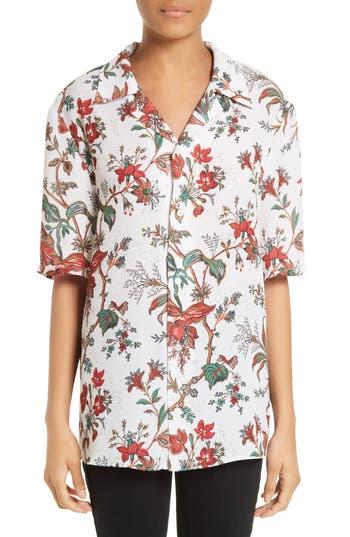 McQ Alexander McQueen Billy Floral Print Blouse