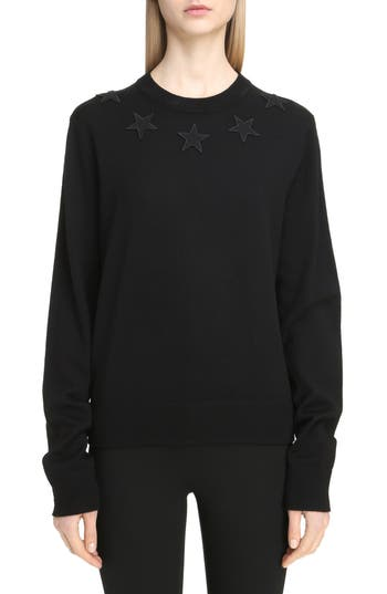 Givenchy Star Embellished Wool Sweater