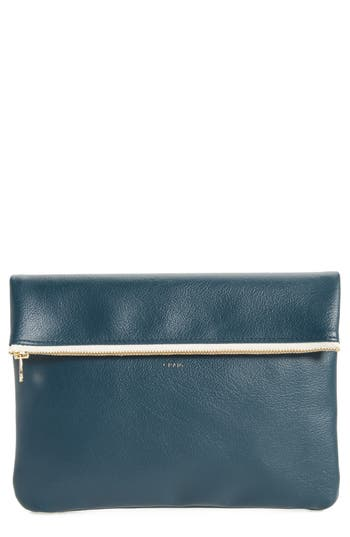 MT Craig Medium Faux Leather Clutch