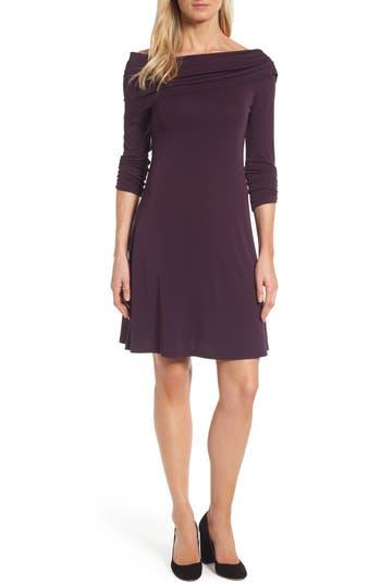 Karen Kane Jackie Drape Neck Jersey Dress (Regular & Petite)