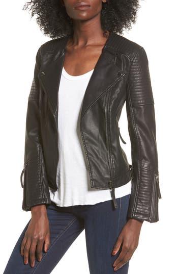 Topshop Luna Faux Leather Biker Jacket