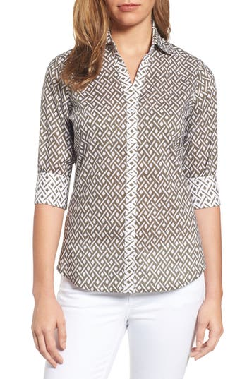 Foxcroft Mary Cotton Shirt (Regular & Petite)