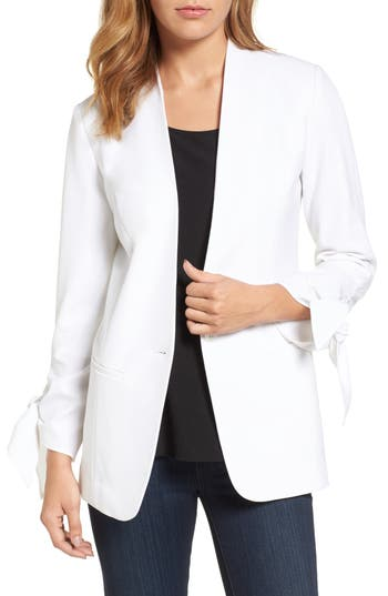 Halogen® Tie Sleeve Blazer (Regular & Petite)