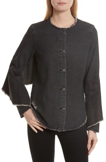 Robert Rodriguez Denim Ruffle Shirt