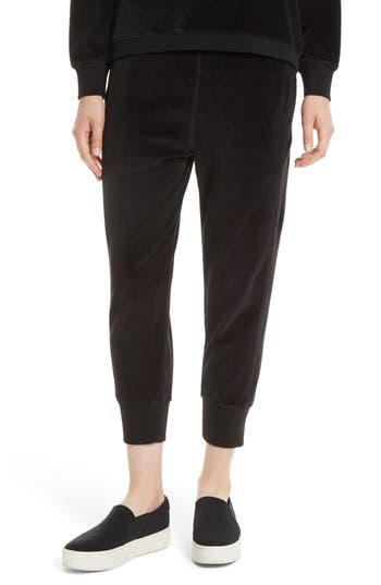 Vince Velour Cuffed Jogger Pants