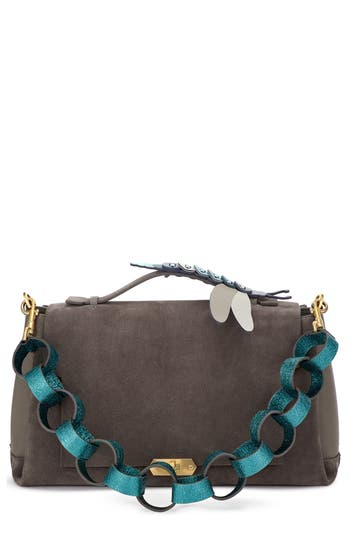Anya Hindmarch Bathurst Dragonfly Detail Leather & Suede Satchel