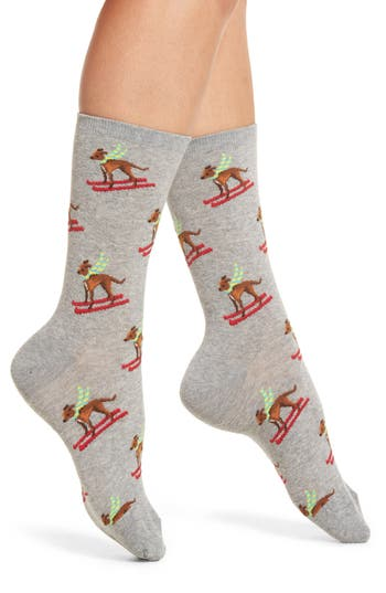 Hot Sox Ski Dog Crew Socks (3 for $15.00)