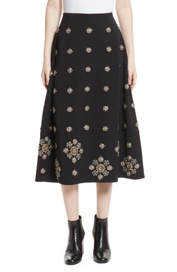 Elizabeth and James Lottie Embellished Midi Skirt