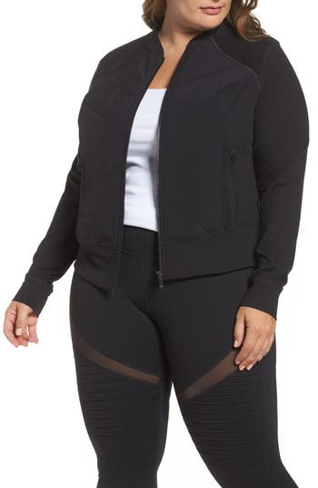 Zella Wear It Out Bomber Jacket (Plus Size)