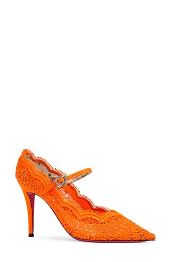 Virginia Pointy Toe Mary Jane Pump by Gucci