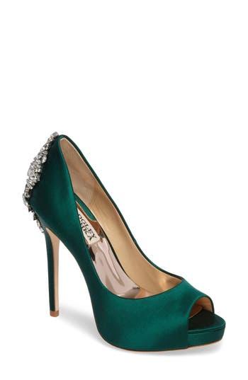 Badgley Mischka Embellished Peep Toe Evening Shoes