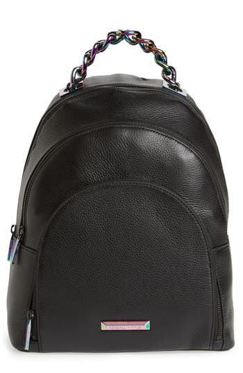 KENDALL + KYLIE Sloane Iridescent Hardware Leather Backpack