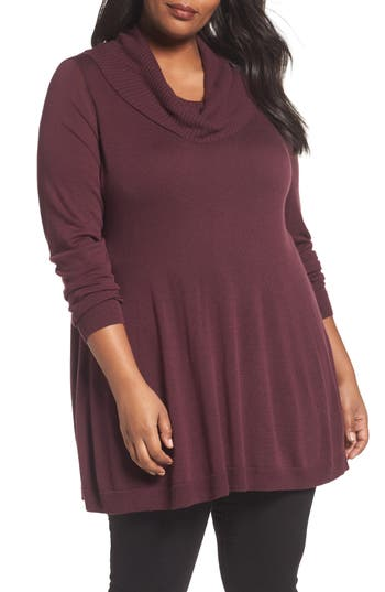 Sejour Cowl Neck Tunic (Plus S..