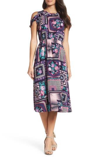 Fraiche by J Ruffle Cold Shoulder Dress