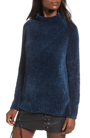 Lost + Wander Maya Chenille Mock Neck Sweater