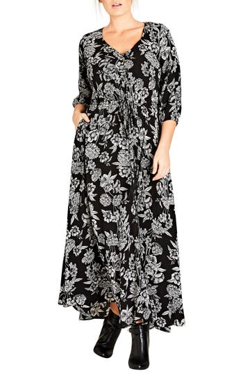 City Chic Bloomsbury Maxi Dress (Plus Size)