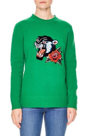 sandro Stella Embroidered Wool Sweater