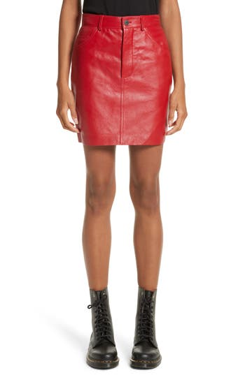 Vetements Leather Miniskirt