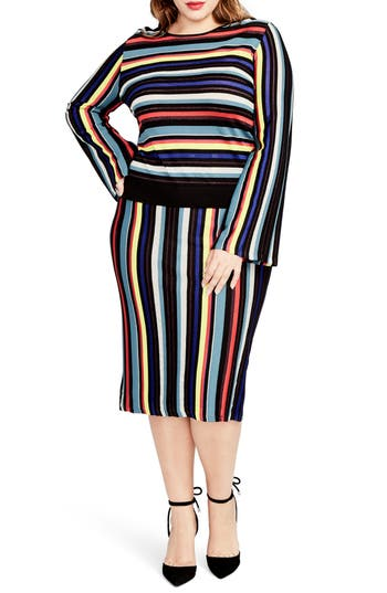 RACHEL Rachel Roy Multistripe Sweater (Plus Size)