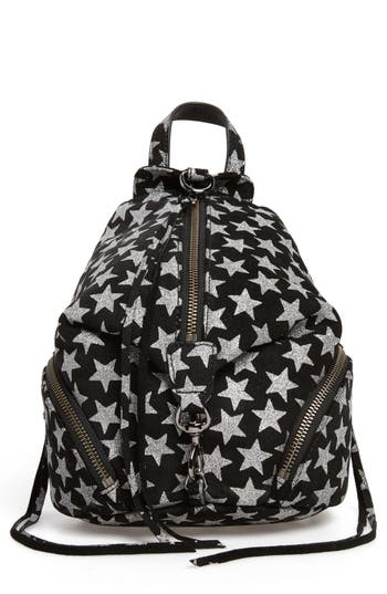 Rebecca Minkoff Mini Julian Metallic Star Nubuck Leather Convertible Backpack