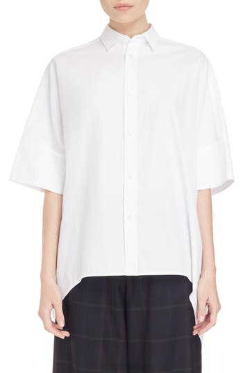 Y's by Yohji Yamamoto Oversize Drop Hem Shirt