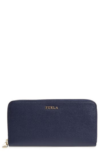 Furla XL Babylon Saffiano Leather Zip Around Wallet